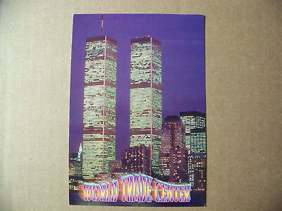 World trade center at Night Twin Towers postcard