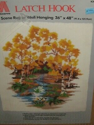 Autumn Scene Rug Latch Hook Kit - 36 x 48""