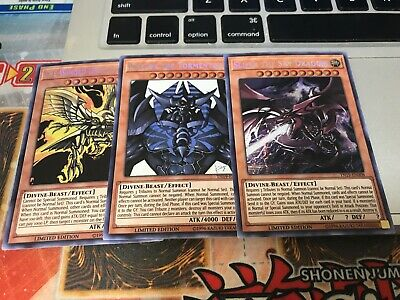 YUGIOH - The Winged Dragon of Ra, Slifer, Obelisk the Tormentor - Set - TN19 NM