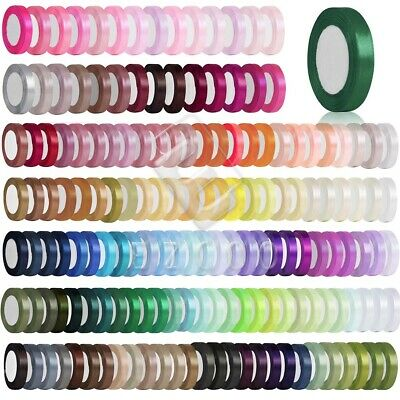 "25 Yards 1""25mm Satin Ribbon Craft Bows Wedding Party Decoration DIY Lots YBRN6"