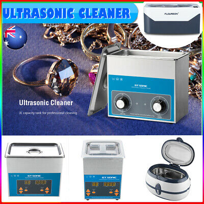 400ml/600ml/2L/3L Ultrasonic Cleaner Jewelry Industrial Cleaning Tank +Basket AU