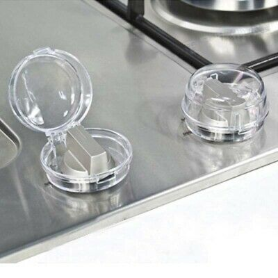 2 Pcs Kitchen Transparent Stove Button Knob Cover Safety Locks For Children Baby