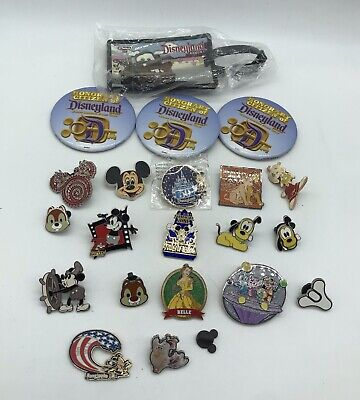 Huge Mixed Condition Disney Mickey Collectible Trader Pin Button Pins Lot
