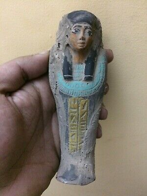RARE ANCIENT EGYPTIAN ANTIQUES EGYPT Statue Small Shabti Hieroglyph STONE BC