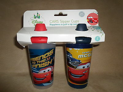 Set Of 2 Disney Cars 10 Oz. BPA-Free Spill Proof Sipper Cups, NEW IN PACKAGE!!!