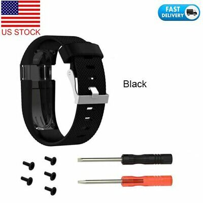 Watch Replacement Strap Band Wristband w/Tool For Fitbit Charge HR Tracker Large