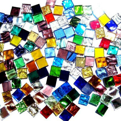 Tiles Mosaic Stained Glass Pieces Colored 1x1cm DIY Art Craft I Colors 100g