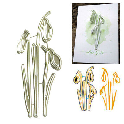 Flower Branch Metal Cutting Dies Stencil for DIY Scrapbooking Paper Card DecorBB