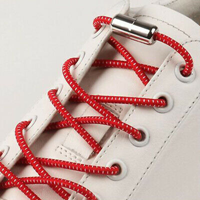 Easy Lazy No Tie Elastic Metal Cap Elastic Laces Shoelaces Unisex