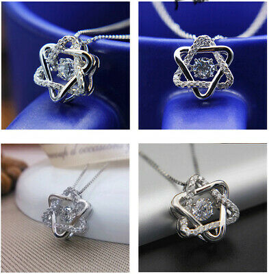 New Necklace Pendant auger zircon silver ornament Crystal necklace Pendant