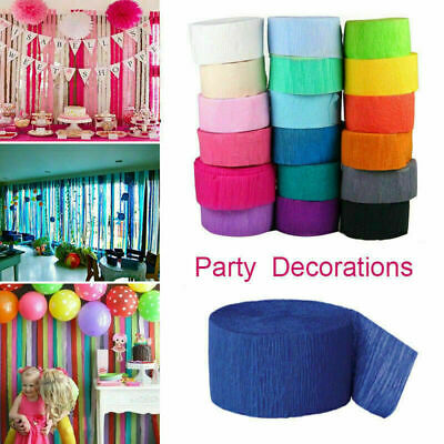 UK 81ft Crepe Paper Streamer Roll Wedding Birthday Party Supplies Decorations