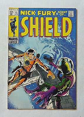 Nick Fury Agent Of Shield 11 Silver Age Marvel Comics 1969 VFN- Barry Smith