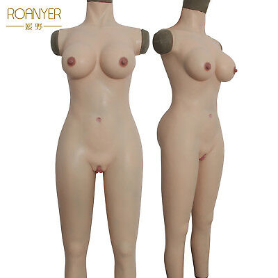 Roanyer Crossdresser Silicone Whole Suits Breast Forms Vagina
