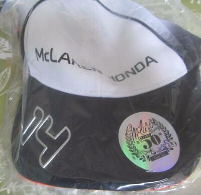 Official McLaren Honda F1 Fernando Alonso 14 Formula One 50 Years 2016 Cap NEW