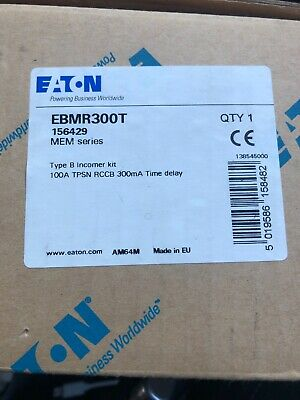 Eaton Memsheild 3 EBMR300T - New Rcd Main Switch 100A Time Delay Incomer Kit