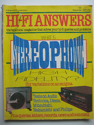 Hi-Fi Answers magazine September 1980 - Nakamichi 482 cassette deck - 138 pages