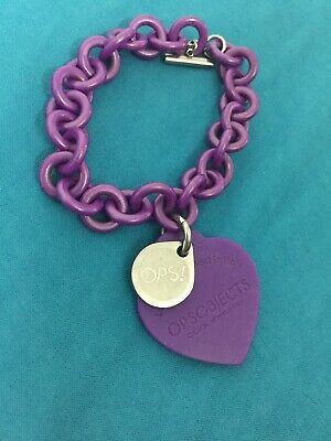 Bracciale Pendente Donna OPS OBJECTS OPSBR-15 Cuore Silicone Viola