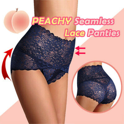 Seamless Lace Panties Women Shapers High Waist Slimming Tummy Control Knickers