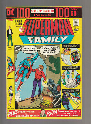 Superman Family # 164  Jimmy Solves his own Problems !  grade 8.5 scarce book !