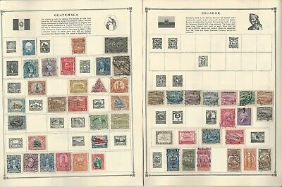 Ecuador & Guatemala Stamp Collection on 20 Scott Album Pages To 1981