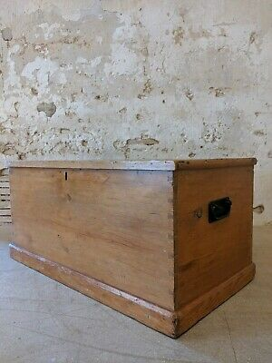 Antique Pine Trunk, Chest Coffee Table