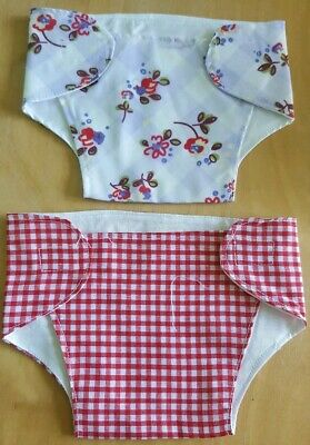 Set of 2 Nappies for 17-19 inch Dolls/Baby Annabell/Luvabella/CHOU CHOU  (20)