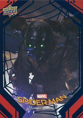 Spiderman Homecoming Blue Foil [99] Base Card #68 The Vulture Strikes