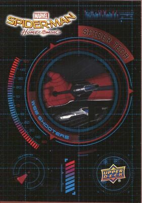 Spiderman Homecoming Spider Tech Chase Card ST2 Web Shooters
