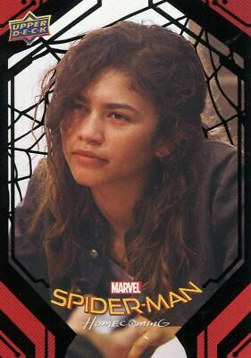 Spiderman Homecoming Black Foil [49] Base Card #87 Michelle's Inquiry