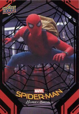 Spiderman Homecoming Black Foil [49] Base Card #44 Inside the Truck
