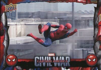 Spiderman Homecoming Civil War Chase Card CW9 Swinging Back Around