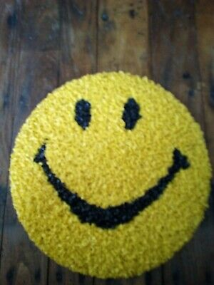 Vintage Melted Plastic Happy Smiley Face  70's