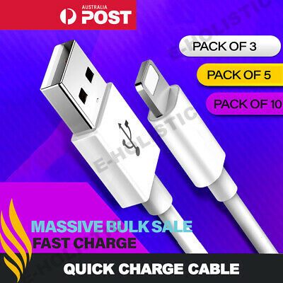 Lightning Cable to USB 1M 2M 3M Long Fast Charging Charger Data Cord For iPhone