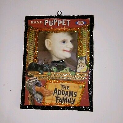 Vtg Image~~ Addams Family Lurch Puppet Ideal ~~ Halloween Glitter Wood Ornament