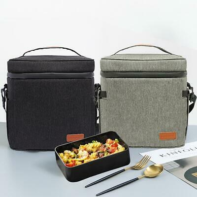 Portable Oxford Lunch Bag Insulated Thermal Cool Bags Picnic Food Box with Strap