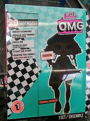 LOL Surprise OMG Fashion Doll Neonlicious with 20 Surprises NEW IN BOX!!!