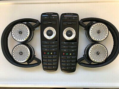 2014- 2019 Mercedes Split View Headphones/Dvd Remote Control Complete Set Oem