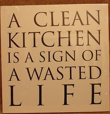 """A Clean Kitchen 15"""" x 15"""" Classic Canvas On A Wooden Stretcher Frame"""