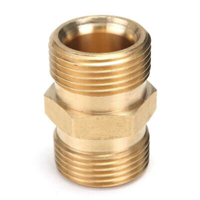For Karcher Pressure Washer M22/14mm To Male Adapter Hose Outlet Golden Brass