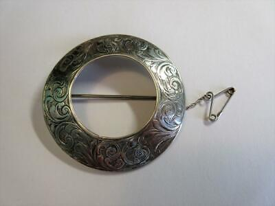 ANTIQUE VICTORIAN STERLING SILVER SCOTTISH, CELTIC DESIGN BROOCH, PIN - 7.6g!