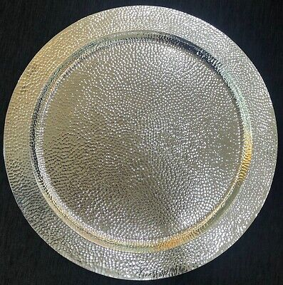 Sterling Silver 925 Round Shape Tray Platter Salver Serving Plate Dining Vessel