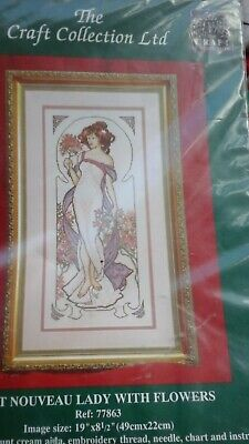 The Craft Collection Art Nouveau Lady with Flowers 77863 NIP