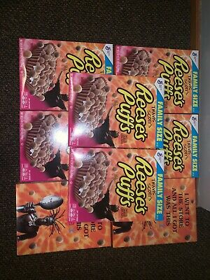 Travis Scott X Reeses Puffs Cereal 100% New Limited Family Box Lmtd Satin UNC