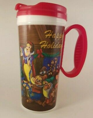 Snow White And The Seven Dwarves Walt Disney World Travel Mug Christmas Holidays