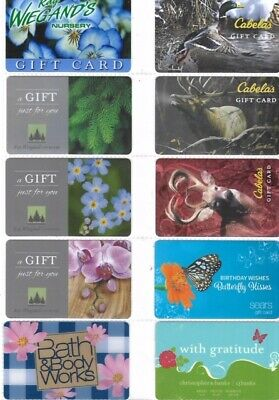 10 Different Gift Cards   T9-22