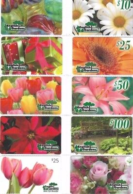 19 Different Gift Cards   T9-23   English Gardens