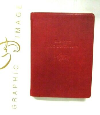 """Rocky Mountains Journal Travel Guide Atlas Softcover Leather Journal 4x6"""" NIB"""