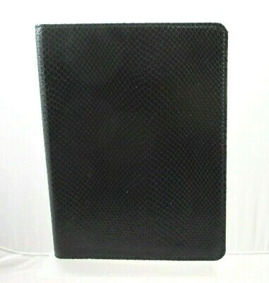 """Graphic Image Refillable Notebook Journal Leather Cover Wire-O Large 9"""" Black"""