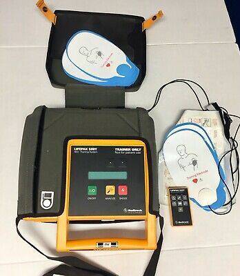 Medtronic Physio Control LIFEPAK 500T Trainer AED System w/Case & 5 pairs pads