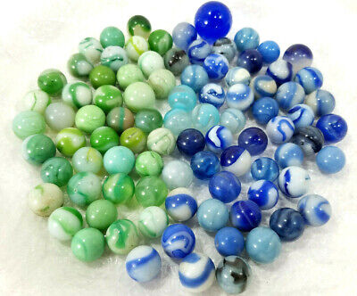 Vintage Marbles Lot Collection Christensen Agate Cac Blue Green Swirl Corkscrew